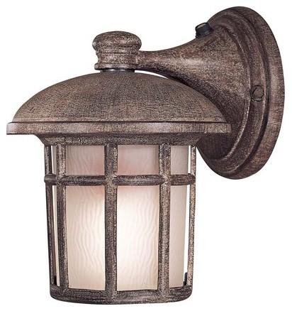 Cranston Small Compact Fluorescent  Outdoor Wall Lantern in Vintage Rust - Energ modern-lighting