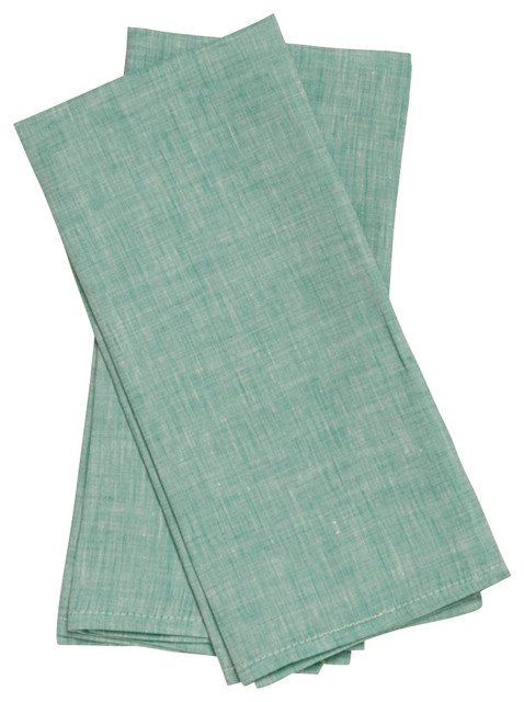 Tea Towels, Mint Green, Set of 2 traditional-dish-towels
