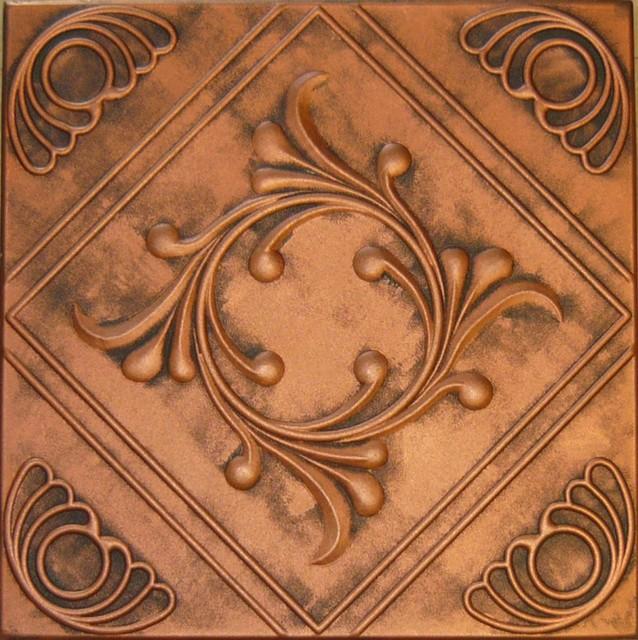 R 02 Styrofoam Ceiling Tile 20x20 - Antique Copper wallpaper