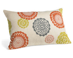 Zinnia Blossom Pillows -  Room & Board eclectic-decorative-pillows