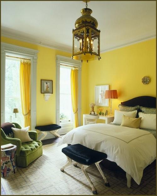 yellow bedrom