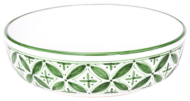 Sobremesa by Greenheart Green Fez Wide Pasta Bowl contemporary-bowls