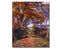 Autumn Colored Road Canvas Art by David Lloyd Glover modern artwork