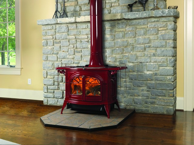 Vermont Castings Defiant Series 32'' x 29'' Wood Burning Stove modern-freestanding-stoves