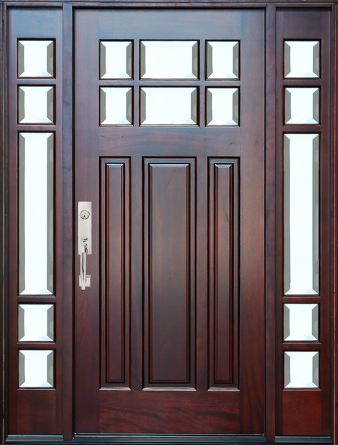 bgw m36 mahogany door with sidelights contemporary front doors