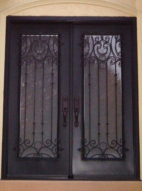 Wrougjht iron decorative door and window panels contemporary-screens ...