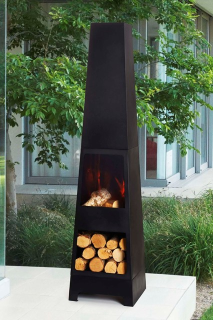 Malmo Chiminea Modern Chimineas By Next