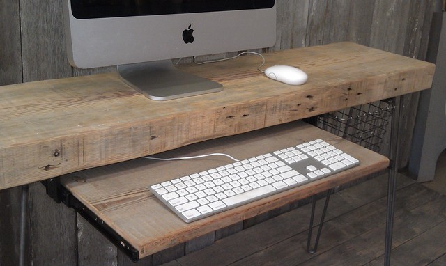 ... wood computer desk - Desks And Hutches - chicago - by Urban Wood Goods
