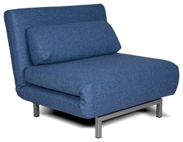 Copperfield Solo Blue Chair Bed Modern Futons