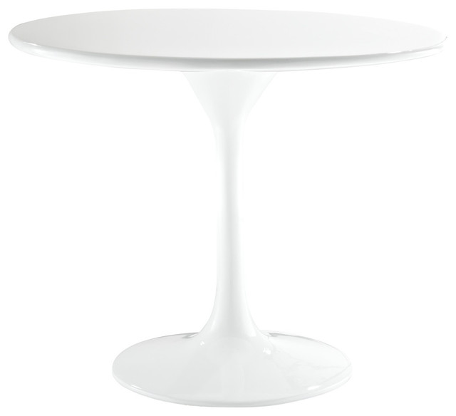 """24"""" Eero Saarinen Style Tulip Side Table in Fiberglass, White contemporary-side-tables-and-end-tables"""
