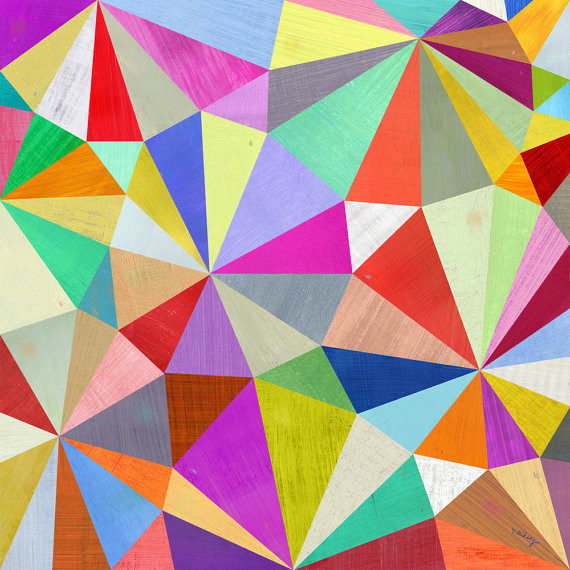 Kaleidoscope Geometric Art Print By Two Ems Modern