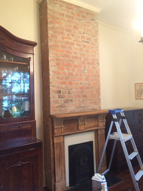 Should I Paint The Fireplace Brick And Mantle The Color Of
