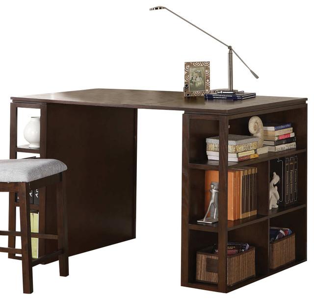 Bradford Writing Desk - Dark Oak contemporary-desks-and-hutches