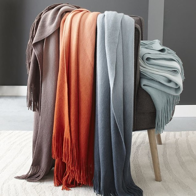 softest throw ombr contemporary throws by west elm. Black Bedroom Furniture Sets. Home Design Ideas