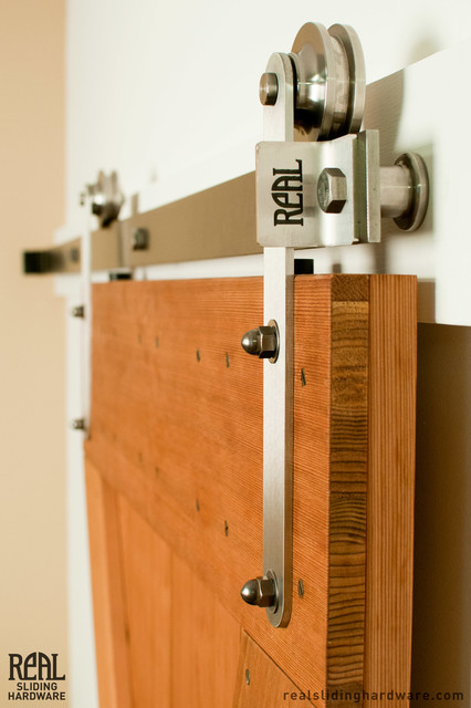 Stainless Prop Style Barn Door Hardware Contemporary