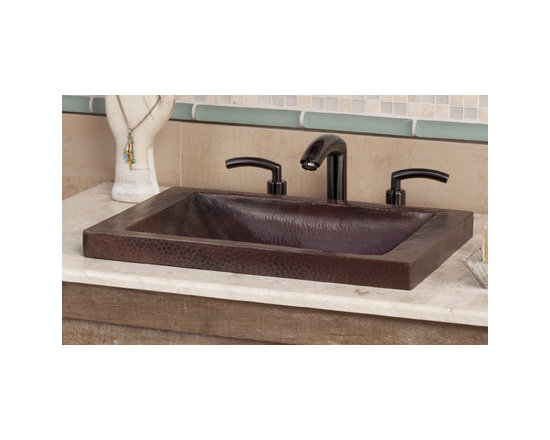 Hana Antique Copper Bathroom Sink by Native Trails - Want visual impact and versatile design? Look no further - with a defining texture from thousands of hammer hits on recycled copper, Hana is beautiful, uncomplicated, and available in either an Antique copper finish or hand-dipped Brushed Nickel finish.