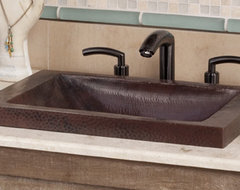 Hana Antique Copper Bathroom Sink by Native Trails contemporary-bathroom-sinks