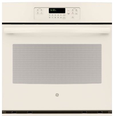 GE Oven. 30 in. Single Electric Wall Oven Self-Cleaning with Steam in Bisque JT3 contemporary-ovens