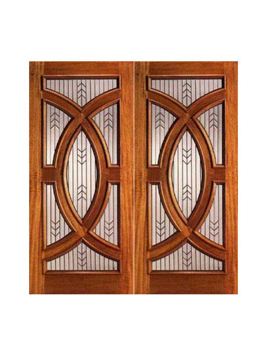 """Mahogany Prehung Double Front Doors with Triple Glazed Glass, Circle - SKU#PL-01_2BrandAAWDoor TypeExteriorManufacturer CollectionBudget DoorsDoor ModelDoor MaterialWoodWoodgrainMahoganyVeneerPrice2960Door Size Options2(30"""") x 80"""" (5'-0"""" x 6'-8"""")  $02(36"""") x 80"""" (6'-0"""" x 6'-8"""")  +$402(30"""") x 96"""" (5'-0"""" x 8'-0"""")  +$6802(36"""") x 96"""" (6'-0"""" x 8'-0"""")  +$720Core TypeSolidDoor StyleCircle , ModernDoor Lite StyleRadius LiteDoor Panel StyleHome Style MatchingContemporary , VictorianDoor ConstructionEngineered Stiles and RailsPrehanging OptionsPrehungPrehung ConfigurationDouble DoorDoor Thickness (Inches)1.75Glass Thickness (Inches)3/4Glass TypeTriple GlazedGlass CamingBlackGlass FeaturesTempered , Insulated , BeveledGlass StyleGlue ChipGlass TextureGlass ObscurityDoor FeaturesDoor ApprovalsDoor FinishesDoor AccessoriesWeight (lbs)850Crating Size25"""" (w)x 108"""" (l)x 52"""" (h)Lead TimeSlab Doors: 7 daysPrehung:14 daysPrefinished, PreHung:21 daysWarranty"""