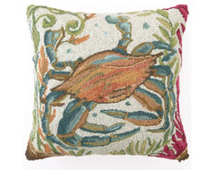 Sealife Crab Hook Pillow 18X18 contemporary pillows