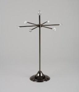 6 Arm Round Jewelry Stand, Modern Jewelry Organizer - contemporary ...
