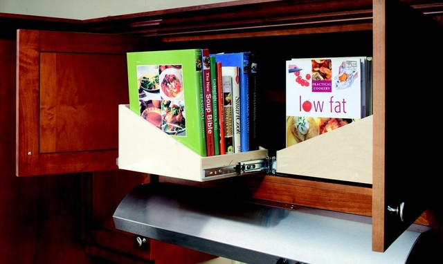 Sloped Pull Out Shelves cabinet-and-drawer-organizers