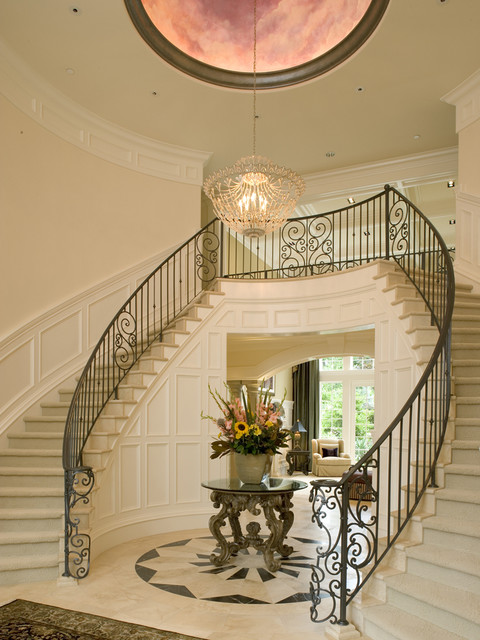 Artale grand foyer and dual staircases - Traditional - Staircase - by John F Buchan Homes