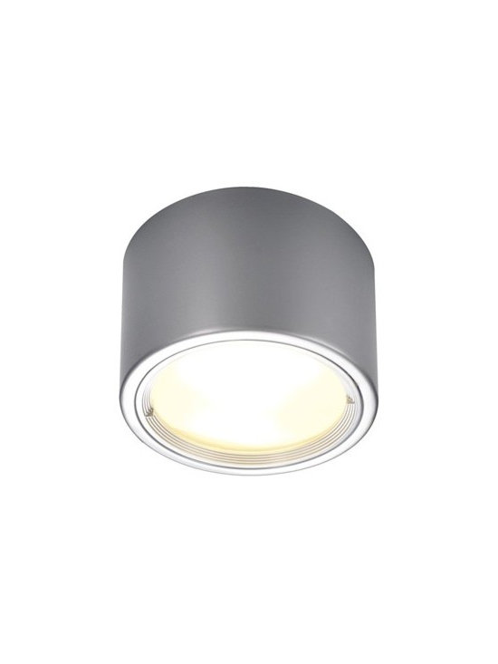SLV Lighting - SLV Lighting | PL Surface Mounted LED Ceiling Light - Design by SLV Lighting.The PL Surface Mounted LED Ceiling Light  is a cylindrical flush-mount light. Clean, modern, architectural style define the PL light. Uses eco-friendly LED lights. Has a lumen output of 1800, a color temperature of 3000k, and a CRI of 83. Produces direct and ambient light. Available in silver gray and white finishes. Made of aluminum and glass.