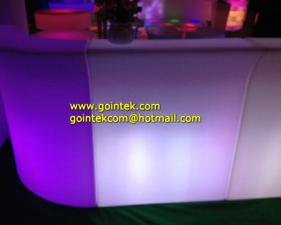 Home Bar Illuminated Led Counter Design with RGB Color Change Light -