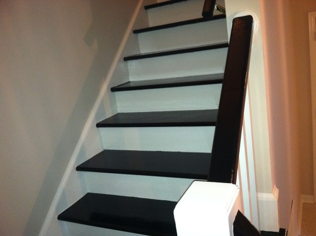 Creative idea painting stair treds - Ideas for painting stairs ...
