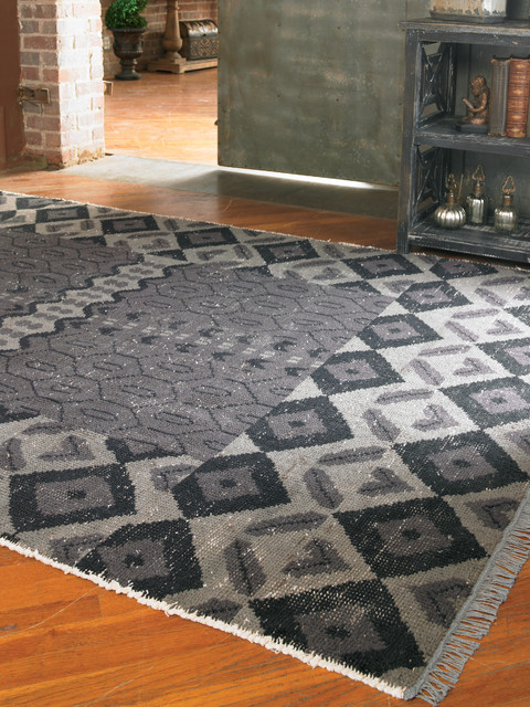 Tile Rugs Gray Contemporary Rugs New York By Zin Home