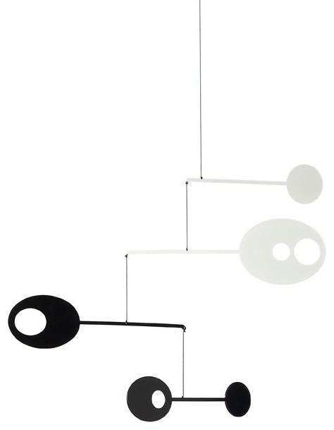 Orbiting Ovals Mobile - Black/White modern-artwork