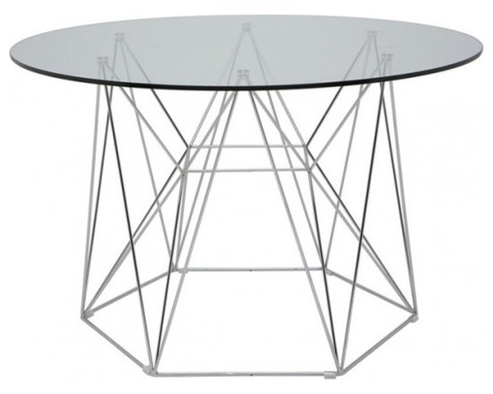 Glass, Wood or Metal Dining Table -