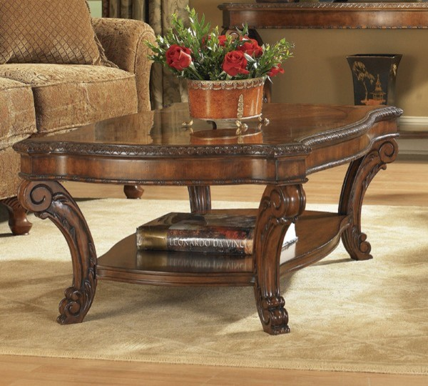 Art Furniture Old World Rectangle Cocktail Table Art 143300 2606 Traditional Coffee