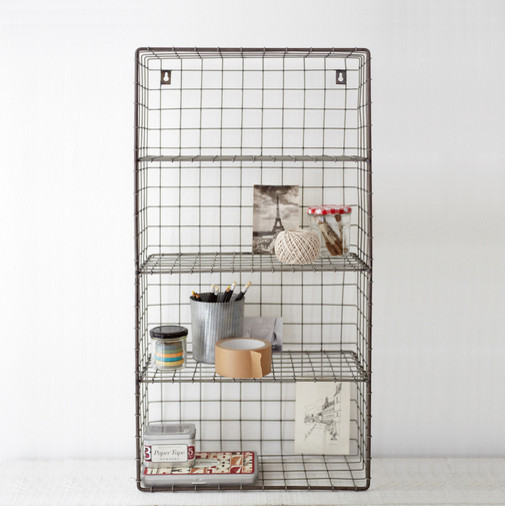 Wire Wall Rack contemporary-wall-shelves