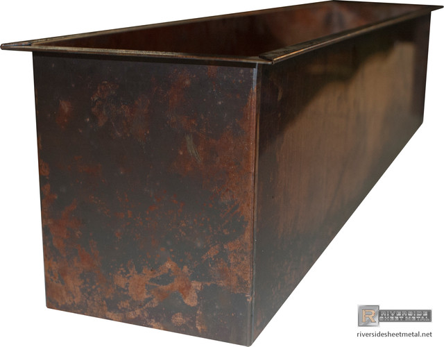 Burnished Copper Planters Custom Fabricated