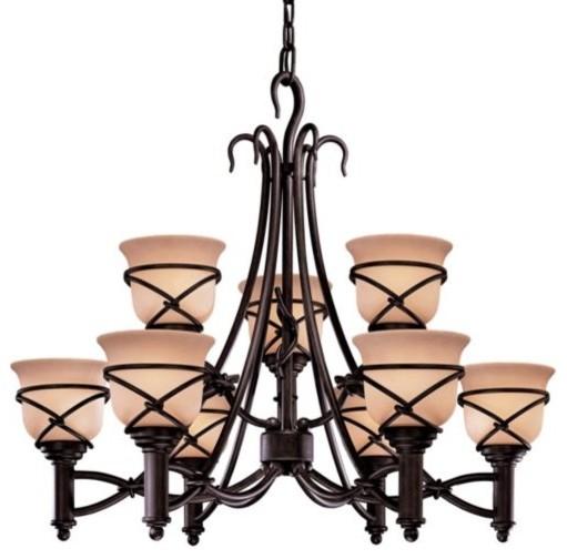 Aspen II Two-Tier Chandelier modern-chandeliers