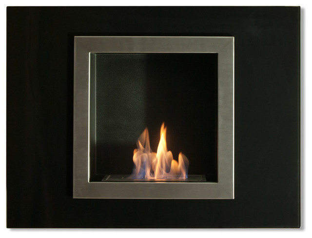 Villa Mini Wall Mounted Ventless Ethanol Fireplace contemporary-indoor-fireplaces