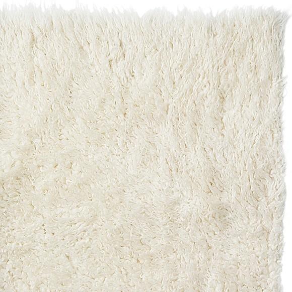 Pure Eco-Friendly Wool Flokati Shag Rug, White, 9' X 12' modern-rugs