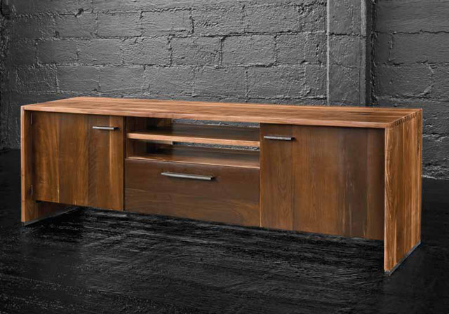 Drake Media Cabinet - Contemporary - Entertainment Centers And Tv Stands - seattle - by Zin Home