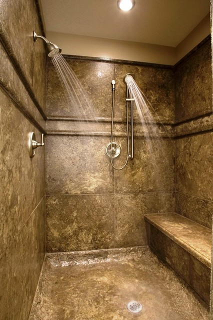 Gallery For Stone Walk In Shower Designs Photos