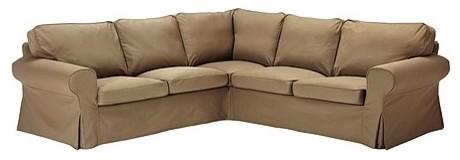 EKTORP Corner sofa 2+2 slipcover modern-sectional-sofas