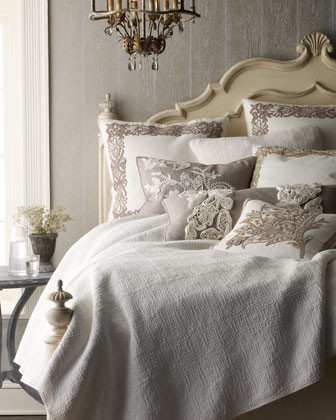 Ankasa Cortona Bed Linens Cortona King Coverlet, 108 x 96 traditional throws