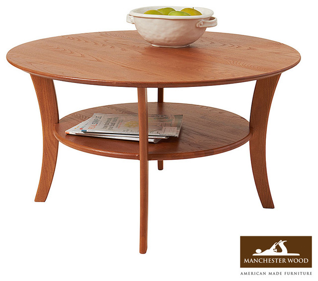 Round Coffee Table by Manchester Wood - modern - coffee tables
