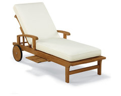 Cassara Outdoor Chaise Lounge Chair with Cushions - Frontgate, Patio Furniture traditional-outdoor-chaise-lounges