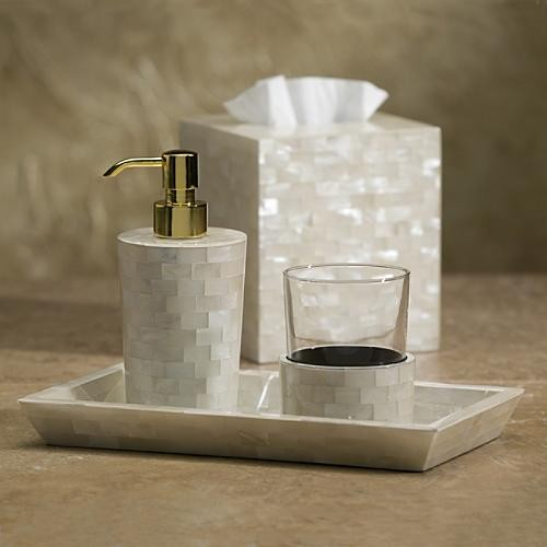 White agate tray traditional bathroom accessories by for Bathroom accessories with tray