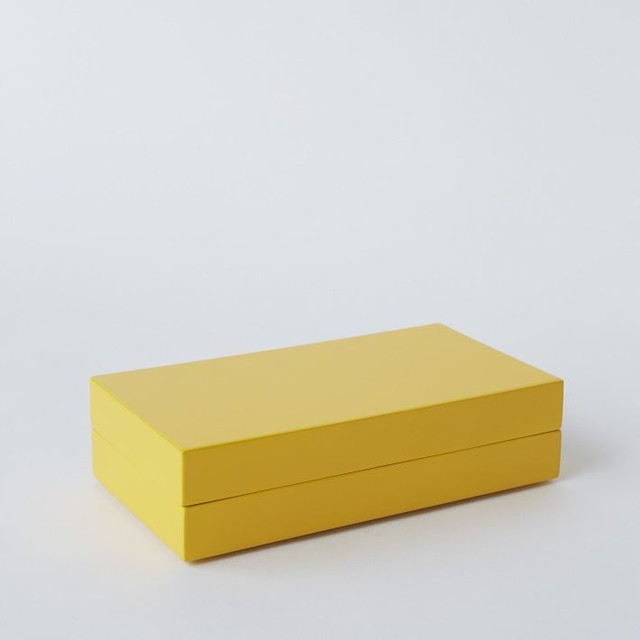 slim lacquer jewelry box yellow contemporary jewelry. Black Bedroom Furniture Sets. Home Design Ideas