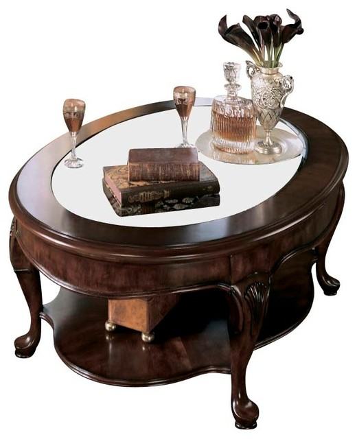 American Drew Cherry Grove Coffee Table Set In Antique Cherry Traditional Coffee Tables By