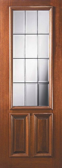 Slab french single door 96 mahogany french 2 panel 2 3 for 96 inch exterior french doors