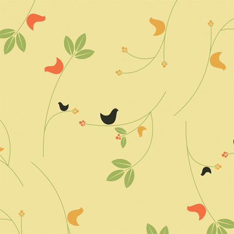 Chic Shelf Paper Birds & Berries Shelf Paper & Drawer Liner - Traditional - Drawer & Shelf ...